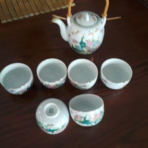 Porcelain Japanese Tea Set